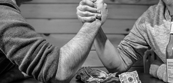competition-in-arm-wrestling-bw